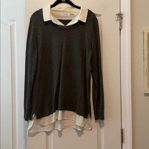 Calvin Klein dress shirt/sweater top